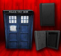 Dr Who Tardis - Kindle Fire/iPad/Nook etc Leather Cover Case, they also do other books/movies