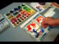 Painting a Watercolor of flowers