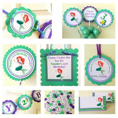The Little Mermaid Party Package by BerrySweetParties on Etsy, $75.00