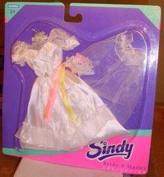 HASBRO 1994 SINDY DOLL BRIDE MARIEE FASHION OUTFIT 7.99+2.3 listed for