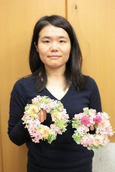 2月22日単発プリザレッスンのご報告 次回3月1日と25日、25日は生花も同時開催です