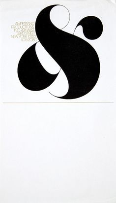 stationery + logotype for Ampersand Productions, Inc. by Herb Lubalin, lettering by Tom Carnase (1972)