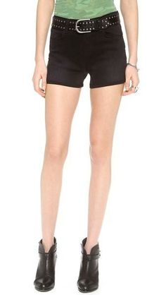 J Brand 1285 Leigh High Rise Shorts - Alley Cat