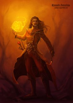 Fire mage by Sedeptra.deviantart.com on @deviantART