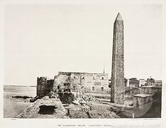 Image detail for -SuperStock - Cleopatras Needle, Alexandria, Egypt, c 1870s.