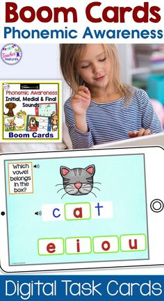 Assess phonological awareness and understanding of initial, medial and final sounds in CVC words by having K-1 students identify the correct beginning, middle and ending sounds. These interactive Boom Cards have movable answer pieces. Ideal for individual