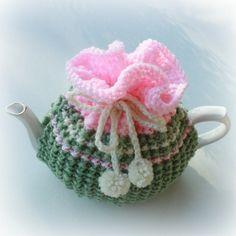 Teapot cozy tea party strawberries and cream