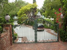 Gates to Elvis' 1174 Hillcrest Drive Home in California    !1174 Hillcrest Drive...  bought May 7th 1967