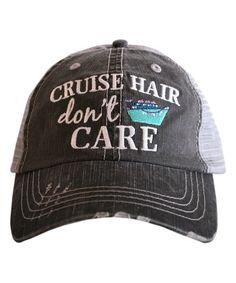 Gray & Mint 'Cruise Hair Don't Care' Trucker Hat #zulily #zulilyfinds