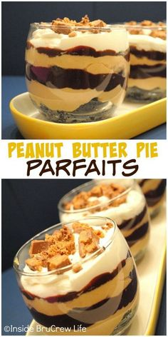 44 Seriously Delicious and Healthy Parfait Recipes Who doesn't like a mouthwatering parfait dessert? Well, you can now have a delicious parfait without feeling guilty or worrying about your waistline! Mini Desserts, Mason Jar Desserts, Parfait Desserts, Parfait Recipes, Chocolate Desserts, Just Desserts, Chocolate Butter, Chocolate Caramels, Baking Desserts