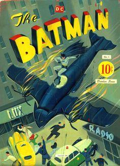(via Mike Lynch Cartoons: BATMAN #1 Cover by Ryan Heshka) Ryan Heshka