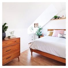 Looks2BLoved on Instagram: Simplistic bedroom #interior; letting the greenery do the talking....