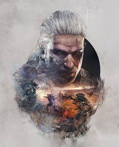 Geralt cool art
