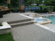 Credit: N.C. Cement Patio Installation, Pool Decks, Backyard, Landscape, Cement, Outdoor Decor, Google Search, Home Decor, Patio