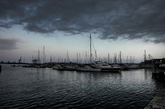 Puerto del Grao de Castellón al atardecer