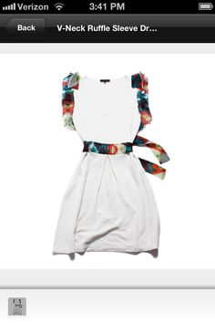 white dress with colorful accents