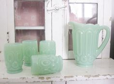 Vintage Toy Kitchen Child Jadeite Pitcher by LittleRedPolkaDots, $48.00