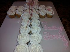 Sbeidys Baptism cupcakes in shape of the cross..