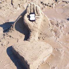 Een bijzonder strandaanzoek.