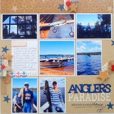 #papercraft #scrapbook #layout.  Scrapbook Page Storytelling with the Modern Nautical Style | Susanne Brauer | Get It Scrapped