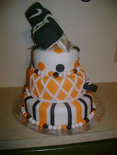 Hockey Cake Hockey Cakes, Lily Cake, Hockey Party, Sport Cakes, Tasty Bites, Occasion Cakes, Cupcake Cakes, Cupcakes, Let Them Eat Cake