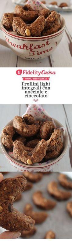 Frollini light integrali con nocciole e cioccolato