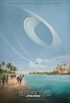 Official poster of Rogue One A Star Wars Story is the first spinoff movie under the Disney/Lucasfilm regime.  It's reveals how the plans for the first Death Star were stolen by the rebels and is set just before ep4. The movie has been described as a 'war' movie.