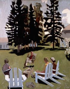 Fairfield Porter. Check out those trees!