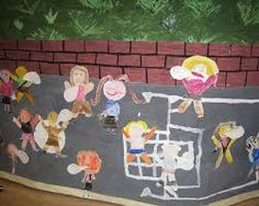 Image result for children painted playground mural