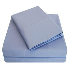 Simple Luxury Embossed Microfiber Sheet Set Color: Periwinkle, Size: California King