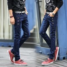 >> Click to Buy << Fashion 2017 Summer Casual thin Teenagers Hip Hop Skinny jeans men feet straight male pants elastic Button leisure trousers #Affiliate