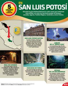 Si tienes planeado visitar San Luis Potosí, en la #InfografíaNTX te decimos cuáles son los 5 lugares que debes conocer.
