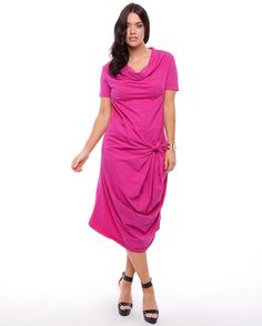 Hope & Harvest Knot dress in Pink. Available at www.theiconic.com