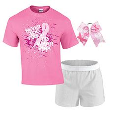 CUTE!! Breast Cancer Awareness Campwear Package - 3 by Cheerleading Company