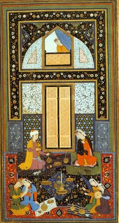 Reinette: Persian Art,Miniature and Painting Mughal Paintings, Islamic Paintings, Islamic Art Calligraphy, Calligraphy Alphabet, Iranian Art, Historical Art, Geometric Patterns, Islamic Patterns, Sacred Art