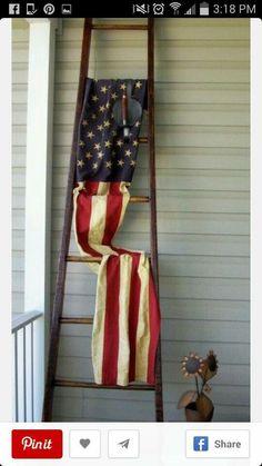 Flag on ladders