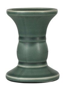 Ceramic Round Base Natural Wash Candle Holder