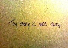 From a collection of hilarious bathroom graffiti...