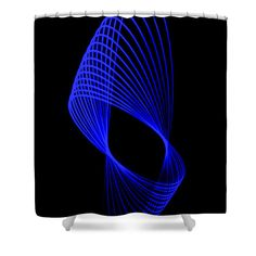 Light Painting Shower Curtain featuring the photograph Thin Blue Line by Marnie Patchett