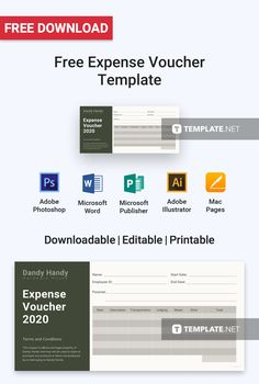 Download Free Expense Voucher Template For Personal Business Use Professionally Designed Templates