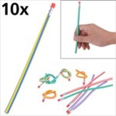 10 x Magic Colorful Bendy Flexible Glue Pencils for Kids - Color Assorted