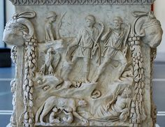 Relief panel from an altar to Venus and Mars depicting Romulus and Remus suckling the she-wolf, and gods representing Roman topography such as the Tiber river and Palatine Hill Ancient Rome, Ancient Art, Ancient History, Art History, Wolf Mythology, Romulus And Remus, Roman Artifacts, Greek And Roman Mythology, She Wolf
