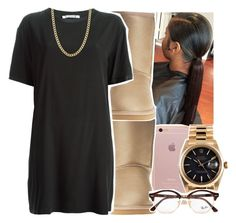 """Untitled #64"" by desirenelle ❤ liked on Polyvore featuring UGG Australia, T By Alexander Wang, Fremada, Rolex and Ray-Ban"