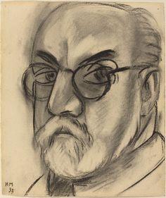 "Henri Matisse self-portrait. From Self-Portrait Drawings from 1484 to Today"" Henri Matisse, Matisse Kunst, Matisse Drawing, Matisse Art, Renoir, Famous Artists Today, Self Portrait Drawing, Charcoal Portraits, National Gallery Of Art"