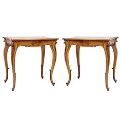 Pair of Louis XIV Style Black Walnut End Tables | From a unique collection of antique and modern end tables at https://www.1stdibs.com/furniture/tables/end-tables/