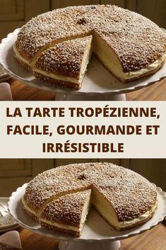 Prenez de la brioche en sucre, garnissez-la d'une savoureuse crème pâtissière mélangée à de la crème fouettée, saupoudrez le tout de perles de sucre et vous obtenez une tarte Tropézienne, un grand classique de la pâtisserie qui a vu le jour à Saint-Tropez, en Provence.  Inaugurée dans les années 50 par le pâtissier polonais Alexandre Micka et directement inspirée de la brioche de sa défunte grand-mère, la Tropézienne est un vrai concentré de gourmandise et se partage sans modération. Raisin, Nutella, Tiramisu, Cupcake Cakes, Pancakes, French Toast, Muffins, Menu, Bread
