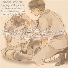 Romano Headcanon- Awwww I still love you Lovi