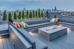 Grey composite decking – seating and deck | Composite Decking Perth