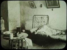 A tenement room on Francis Street in This is a typical example of the tenement rooms in Dublin that often housed entire families in just one room. (RSAI, DD, No. Image courtesy of The National Archives of Ireland Old Pictures, Old Photos, Ireland Pictures, Vintage Photos, Old Irish, Dublin Ireland, Big Houses, Slums, Glasgow