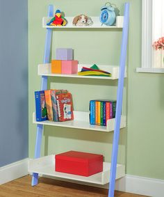 Take a look at this Blue Four Tier Shelf Unit by Target Marketing Systems on #zulily today!